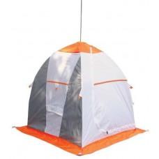 Палатка рыбака Нельма 1 (автомат) (оранжевый/беж/хаки) в СПб, Санкт-Петербурге купить
