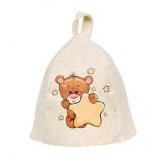 Шапка для бани детская Hot Pot Мишка (войлок) 41213 в СПб, Санкт-Петербурге