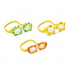 Очки для плавания детские 3-8 лет Intex 55603 дизайн в ассортименте в СПб, Санкт-Петербурге