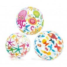 Мяч надувной детский от 3 лет Intex 59040 дизайн в ассортименте в СПб, Санкт-Петербурге