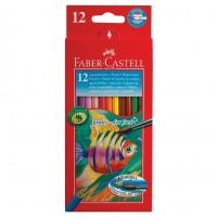 Карандаши цветные акварельные Faber-Castell Colour Pencils 12 цветов + кисть 114413