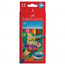 Карандаши цветные акварельные Faber-Castell Colour Pencils 12 цветов + кисть 114413 в СПб, Санкт-Петербурге купить