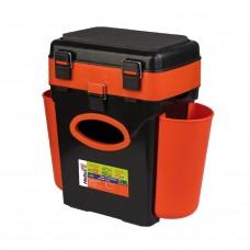Ящик для зимней рыбалки Helios FishBox двухсекционный 10л оранжевый в СПб, Санкт-Петербурге