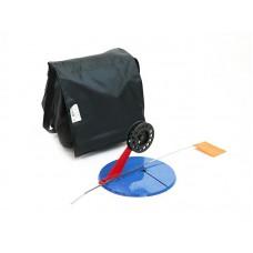 Набор жерлиц зимних 10 шт в сумке, подставка 195, катушка 75 мм, угловая пластиковая стойка в СПб, Санкт-Петербурге